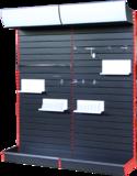 精品带灯箱槽背板展架